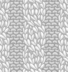 Seamless four-stitch front cable stitch vector image vector image