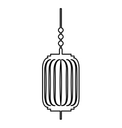 traditional japanese lamp icon vector image