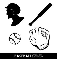 baseball design vector image vector image