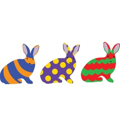 Easter bunny set vector image vector image