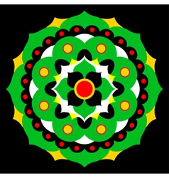 flower mandala in many colors vector image vector image