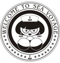 marine woman vector image vector image