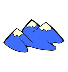 mountain icon cartoon vector image vector image