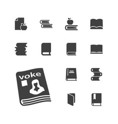 13 library icons vector