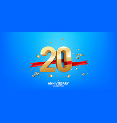 20th anniversary celebration vector