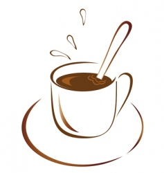 a cup of hot coffee vector image