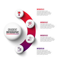 Abstract gradient diagram with 4 steps vector