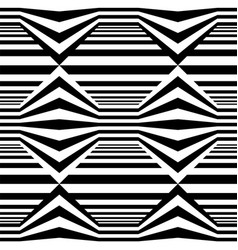 abstract seamless op art pattern vector image