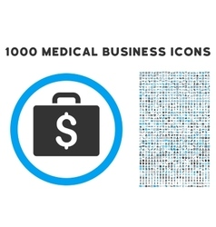 Accounting Case Icon with 1000 Medical Business vector image