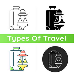 all girl travel icon vector image