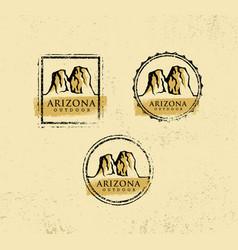 Arizona outdoor adventure mountain hiking creative vector