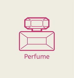 Aroma perfume line icon thin linear parfume signs vector