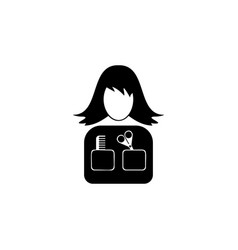 avatar of a hairdresser iconelement of popular vector image