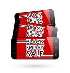 Black Friday smartphone vector image