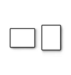 black tablet computers mockup vector image