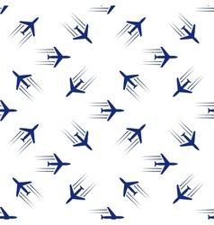 blue planes seamless vector image