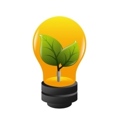 Bulb ecology plant growing vector