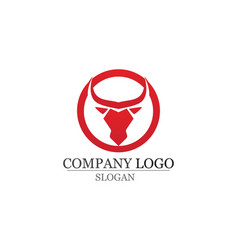 Bull horn logo and symbols template icons vector