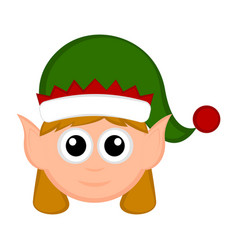 christmas cute elf avatar vector image