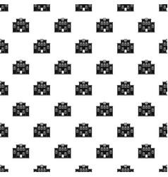 City hospital building pattern vector