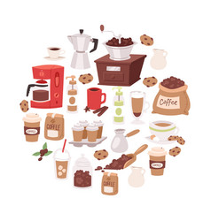 coffee cartoon objects vector image