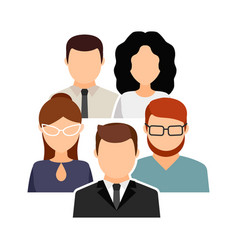 collective team men and women in office clothes vector image