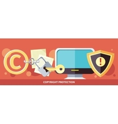 Concept of Copyright Protection in Internet vector image