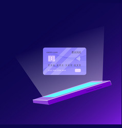 Contactless payment technology vector