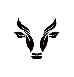 cow head stylized symbol vector image