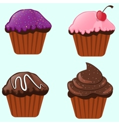 Cupcake baking sweet dessert delicious holiday vector