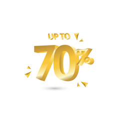 Discount up to 70 template design vector