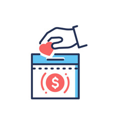 Donation - modern line design single icon vector