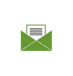 email message logo vector image