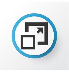 enlarge icon symbol premium quality isolated vector image