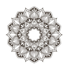Ethnic mandala design - flower style pattern vector
