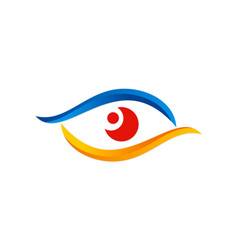 Eye vision colored optic logo vector