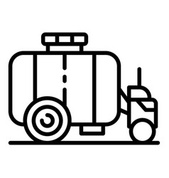 Farm water cistern icon outline style vector