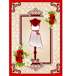 Fashionable dresses vector image