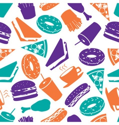 fast food colorful pattern eps10 vector image vector image