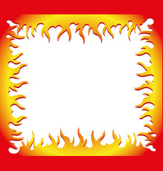 flame frame vector image