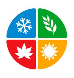 Four seasons year logo icon concept isolate vector