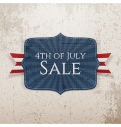 Fourth of July Sale realistic Tag vector image