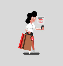 girl reading a discount massage vector image