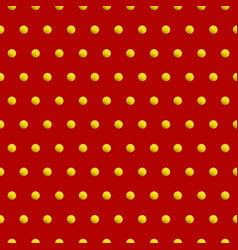 Golden dots on red color abstract background vector