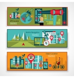 Gps Navigation Banner Set vector