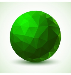 Green Geometric Ball vector image