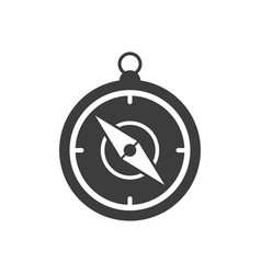 handheld compass icon vector image