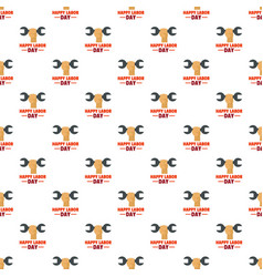 happy labor day pattern seamless vector image