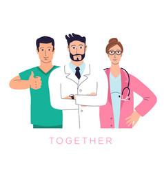 healthcare professionals group doctors nurses vector image