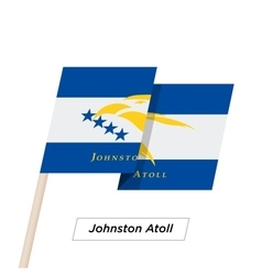 Johnston Atoll Ribbon Waving Flag Isolated on vector image